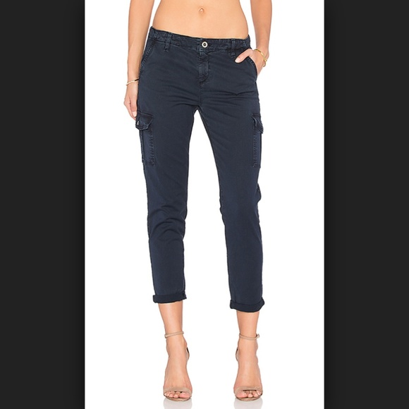 NWT AG ADRIANO GOLDSCHMIED NOLAN RELAXED SLIM NAVY CORDS 31